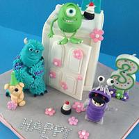 Monster Inc. theme cake