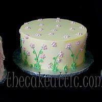 Trio of buttercream cakes for babyshower