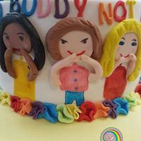 Sugar art Tegen Pesten Vzw MATHI'S HOOP.Anti bullying cake  by Rina Kazimierczak