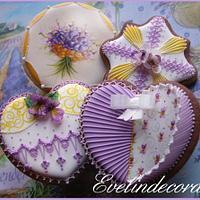 Violet cookies