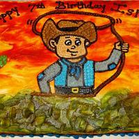 Western cowboy Buttercream birthday cake