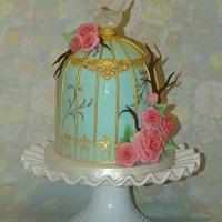 Bird cage cake  by Danielle Lechuga