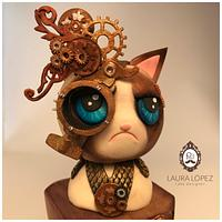 Grumpy cat by Steam Cakes - Steampunk Collaboration