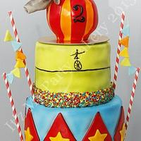 Circus themed cake by It'z My Party Cakery
