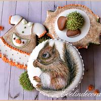 Autumn cookies - squirrel