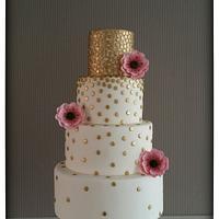 Golden Dots Cake