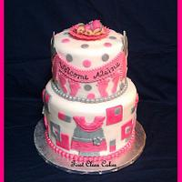 Girly Baby Shower Cake