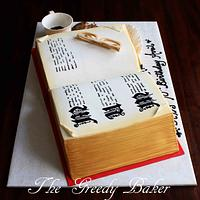 Open Book Cake  by Kate