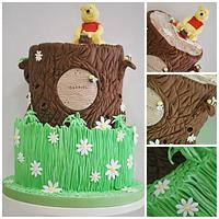 Winnie the Pooh baptism cakes