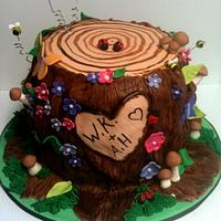 Fantasy Tree Stump by Michelle