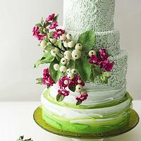 #6 Wedding Cake inspired by Enchanted Garden