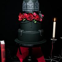 Gothic Elegance wedding cake