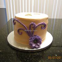 3 Wick Candle Cake by Michelle