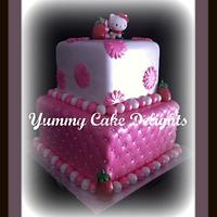 Hello Kitty Inspired Cake by Kathryn