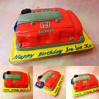 Honda vtec inspired cake