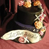 Till Death Do Us Part Engagement  by Sugarart Cakes