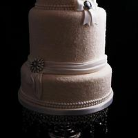 Winter Wonderland wedding cake by Kathryn
