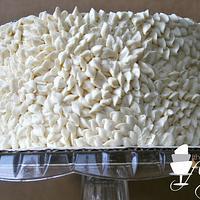 Buttercream petal cake by Rachel Skvaril
