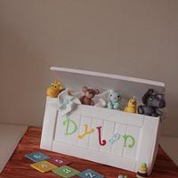 Toy box cake