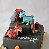 Dragon mania cake