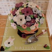 Gardening Inspired Cake...