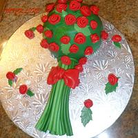 A simple bouquet cake for my lovely husband