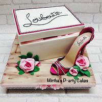 High heel stiletto shoe & box cake