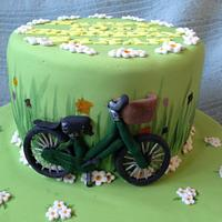 Bicycle Garden Cake