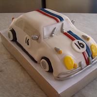 Nikki's 16th Birthday Herbie by Niknoknoos Cakery