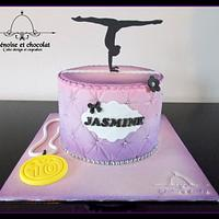 Rhythmic gymnastics cake