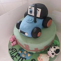 Tractor Cake by Stacey