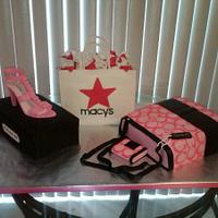 Shopping Cake with Coach Tote