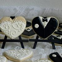 Justin & Yrelle's wedding cookies
