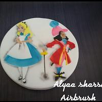 Airbrushing cake