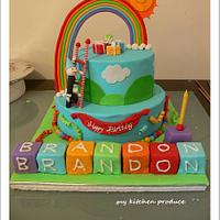 Rainbow Celebration Cake by Linda Kurniawan