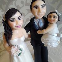 wedding and baptism custom figurines