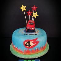 Blaze cake for baby Themis