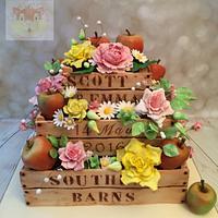 Apple crate cake