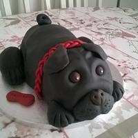 Black Pug Cake for Ben