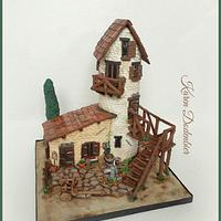 My first cake compitition - old house