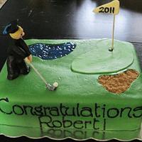 Golfing Grad Cake