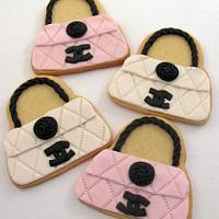 Chanel Purse Cookies