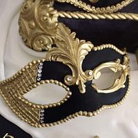 Masquerade mask pillow cake sweet 16