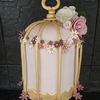 My first vintage birdcage cake