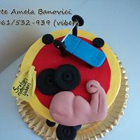 muscle gym cake