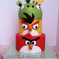 Angry Birds Cake by JB