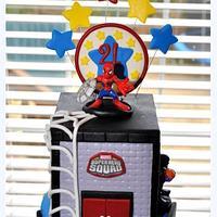 Superhero Squad Cake by Hope Crocker