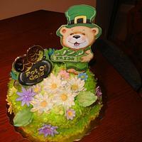 """Pot of Gold - Luck of the Irish"" Cake"