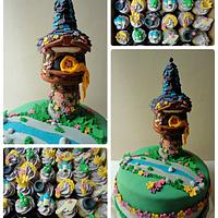 Tangled Cake & Cupcakes