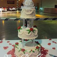 Old school wedding cake